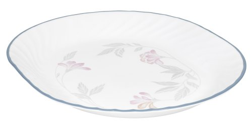 Corelle Impressions 12-1/4-Inch Serving Platter, Pink Trio (Dishes Corelle Pink)