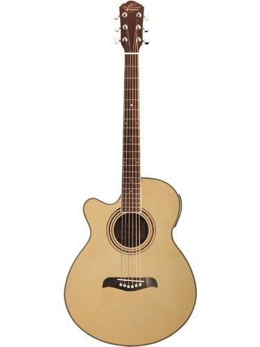 Oscar Schmidt OG10CE Left-Handed Concert-Size Cutaway Acoustic-Electric Guitar - Natural
