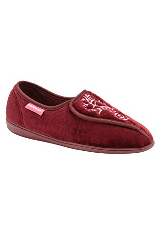 Dunlop Womens Elena Slipper - Burgundy Red - UK3