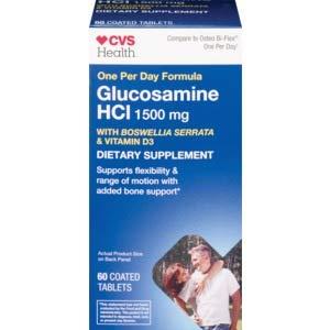 CVS Health Glucosamine HCI 1500 mg 60 Coated Tablets