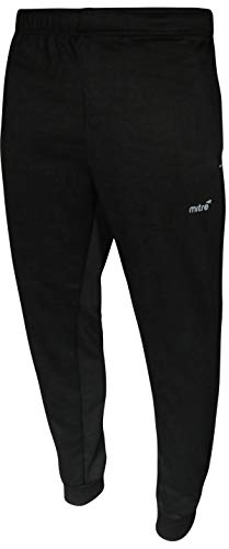 mitre Mens Poly French Terry Active Jogger, Black Spacedye, X-Large'