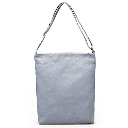 Crossbody Bag Fanspack Bag Top Handle Women's Casual Bag Simple Canvas Hobo Grey Bag Tote Shoulder wZqYPZr
