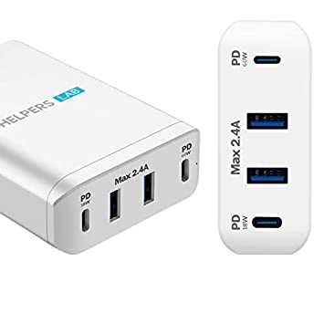 Amazon.com: 90W Dual Type-C PD adaptador de cargador de ...