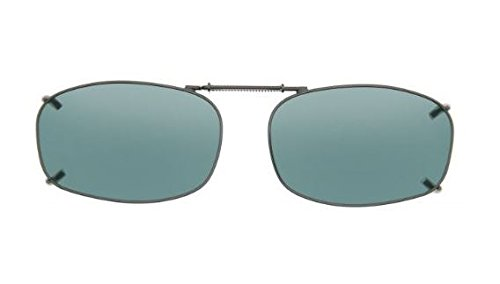 Cocoons Polarized Clip-on Rectangle 5 L4128G Rectangular Sunglasses, Gunmetal, 48 - Cocoon On Clip Sunglasses