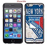 iPhone 6 Case, iPhone 6S Cases, NY Rangers Hockey Team logo 43 Drop Protection Never Fade Anti Slip Scratchproof Black Hard Plastic Case (Record Sherwood Player)