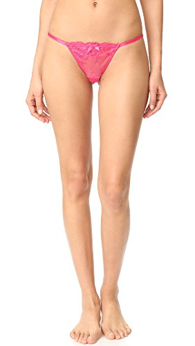 L'Agent by Agent Provocateur Women's Cateline Trixie Thong, Bright Pink, Small