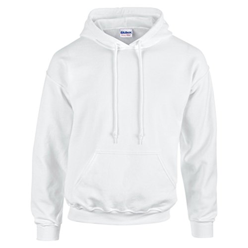 Gildan Lightweight Sweatshirt - Gildan Adult Heavy Blend Hooded Sweatshirt (White) (Medium)
