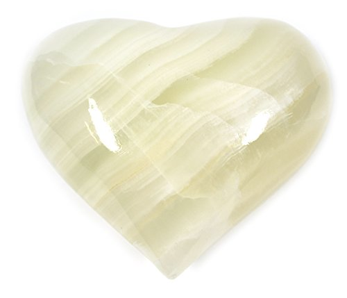 Figurine Heart (Pearlescent White Crystal Stone Heart, 3