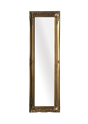 "SBC Decor Maissance Traditional Full Length Mirror, 19"" x 60"" x 1.5"", Antique Gold"