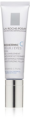 La Roche-Posay Redermic C Eyes Anti-Wrinkle Firming Eye Cream with Vitamin C and Hyaluronic Acid, 0.5 Fluid Ounce