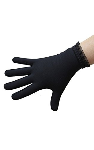 IceDress Thermal Figure Skating Gloves with Flounce(CL (Figure Skating Gloves)