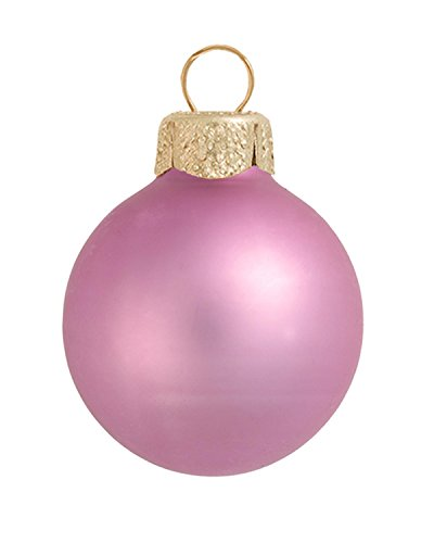 8ct Matte Rosewood Pink Glass Ball Christmas Ornaments 3.25