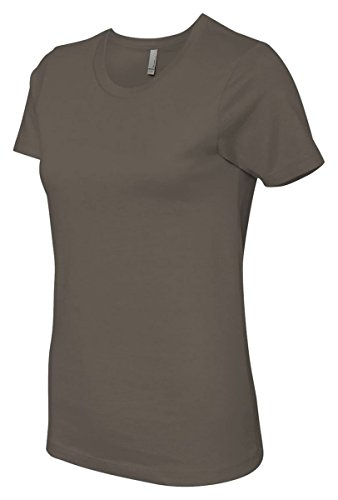 Next Level Signature Style The Boyfriend Jersey T-Shirt, Light Olive, X-Small - Banana Fitted Jersey T-shirt