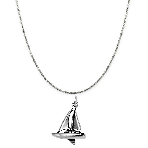 Raposa Elegance Sterling Silver 3D Sailboat Charm on a Sterling Silver 20