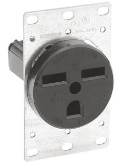 Oven Welder - Leviton Oven / Welder Receptacle, 6-30, 30 Amp, 250 Volt, 5372
