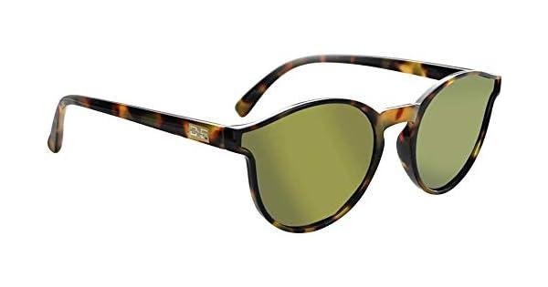 ONE Proviso Polarized Sunglasses Shiny Fire Demi with Polarized Smoke Gold