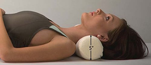 Soft Cervical Roll - Back Support Systems, Neck Rolls Premium Grade Memory Foam Neck Pillow with Washable Bamboo Cover 4, 5 & 6 inch Round - USA Made (5