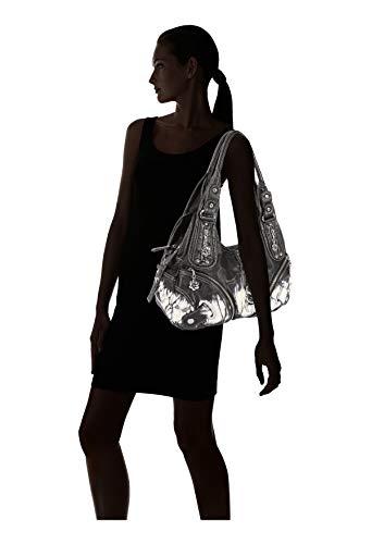 Black Handbags Purses Multi Womens Functional Handbags Womens Angelkiss Large pocket Purse AK11282Z Capcity 7TqwxAS
