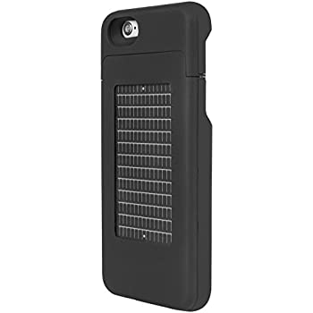 wholesale dealer 4d187 dc606 EnerPlex Surfr Ultra Slim Battery Backup & Solar Powered Case for iPhone  6/iPhone 6S, Black, SRI62700BK
