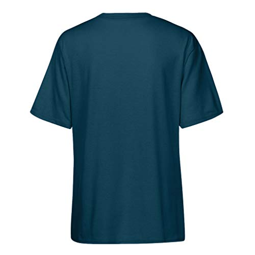 Tops Marino2 Canotte Senza Kobay Maglia Le Top Crop Allentato Maniche Camicetta Lettera shirt Della T Donne ZwvSwq7