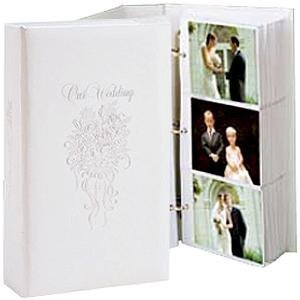 OUR WEDDING 3-ring pocket embossed white proof book for up to 300 4x6 photos - 4x6 by TAP®