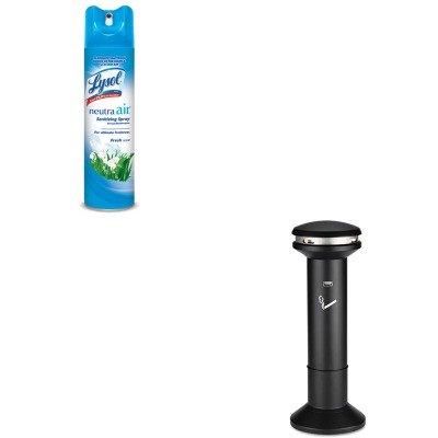 Mount Smoking Receptacle - KITRAC76938EARCP9W34BLA - Value Kit - Black Infinity Ultra-High Capacity Smoking Receptacle (RCP9W34BLA) and Neutra Air Fresh Scent (RAC76938EA)