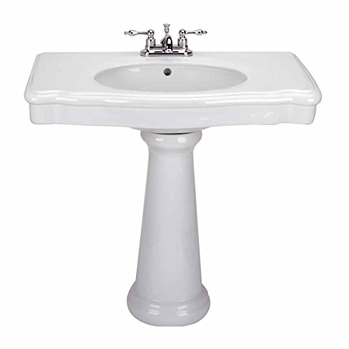 (Old Pedestal Sink Bathroom Console White China Darbyshire | Renovator's Supply)