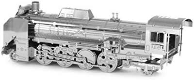日本D51機関車-3D金属モデルキットパズル(シルバー/マルチカラー)14+ (Color : Silver)