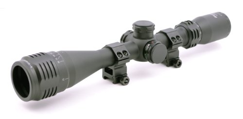 Hammers Illuminated Varmint Hunting Riflescope 4-16X40AO w/Weaver Scope Rings For Sale