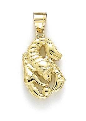 Pendentif Zodiac poli 14 carats-Scorpsio JewelryWeb