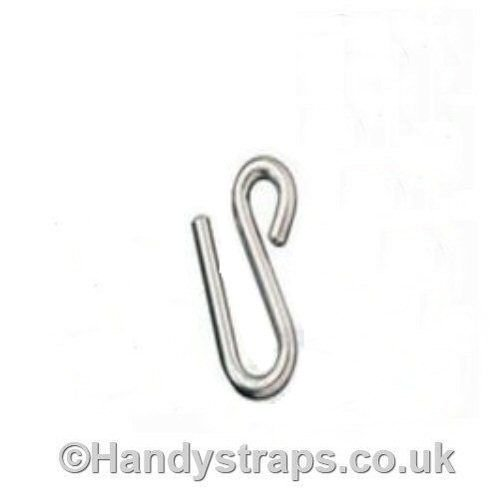 8mm x 75mm Long arm S Hook Stainless Steel Marine Grade HandyStraps