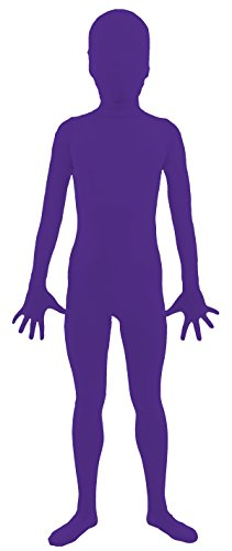 VSVO Kids Purple 2nd Skin Full Body Zentai Supersuit Costumes (Small, Purple) (Purple Morphsuit)