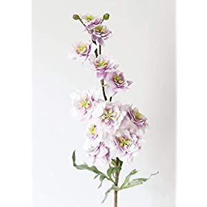 "Afloral Purple White Real Touch Delphinium - 31"" Tall 39"