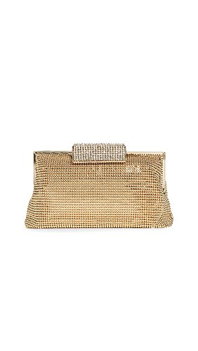 Whiting & Davis Bubble Mesh and Crystal Clutch,Gold,one size by Whiting & Davis