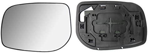 Toyota Yaris 2006 /> 2009 Puerta//Ala Espejo de cristal de plata calentado /& Base lado izquierdo