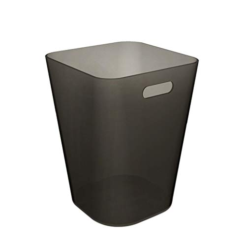 CSQ Creative Without A Trash Can, Pure Ribbon Handle Barrel Cafe Bedroom Household Plastic Trash Can 2430CM Indoor (Color : A, Size : 2430CM) by Outdoor trash can