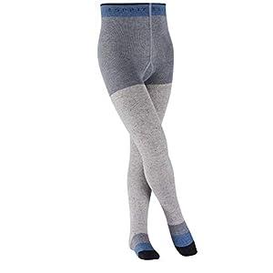 ESPRIT Kids Block Stripe Tights – Cotton Blend, Multiple Colours, UK sizes 6 (kid)-8 (EU 98-164), 1 Pair – Skin friendly, easy care, reinforced stress zones for optimum durability