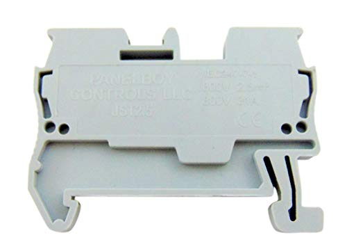 - Terminal Block DIN 2.5 Millimeter Spring Type Clamp Bulk Pack, Set of 50