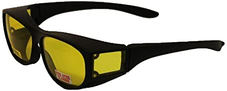 Global Vision Safety Fit Over Glasses (Black Frame/Yellow Lens) ESCORTYT