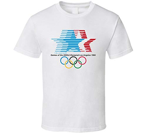 - Una Stowe Los Angeles 1984 Summer Olympics T Shirt XL White Large