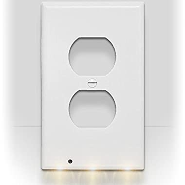 SnapPower Guidelight - Outlet Coverplate with LED Night Lights, Duplex, White