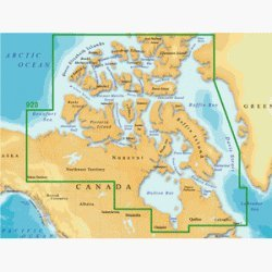 Freshwater Map - Magellan MapSend BlueNav XL3 Charts for eXplorist Northern Canada Salt/Freshwater Map microSD Card
