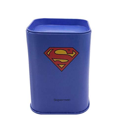 (Ayiguri Superhero Creative Piggy Bank Metal Money Box Coin Bank Tin Can Piggy Bank Rectangular Cute Cartoon Children's Gift Home Decoration (Superman))