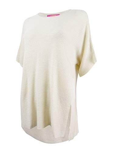 Catherine Malandrino Womens Oversized Popover Pullover Sweater Ivory - Malandrino Cashmere Catherine