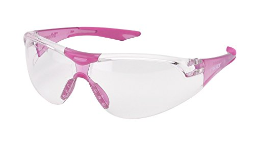 Elvex WELSG18CSLPINK Avion, One Size, Clear Lens/Slim Fit Pink Temple