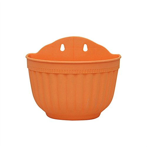 Homedeco Flower Plant Pot Wall Hanging A Type Indoor or Outdoor Container Gardening Wall Mounted Plastic Planter Hanging Flower Pot