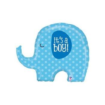 Amazon Its A Boy Blue Elephant Baby Shower Party 32 Foil