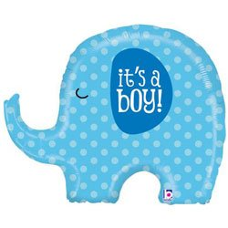 It's A Boy Blue Elephant Baby Shower Party 32