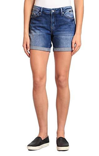 (Mavi Women's Pixie Mid-Rise Boyfriend Shorts (Mid Indigo Vintage, 30 5))
