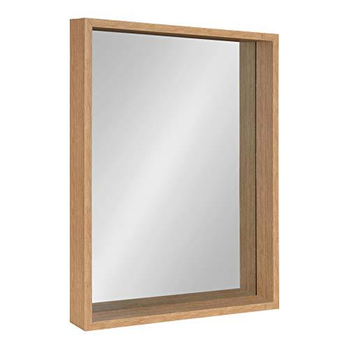 Kate and Laurel Rockwood Framed Wall Mirror 23x29 Natural
